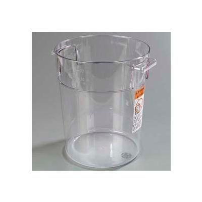Carlisle 1076907 - Storplus™ Round Container 22 Qt., Clear - Pkg Qty 6