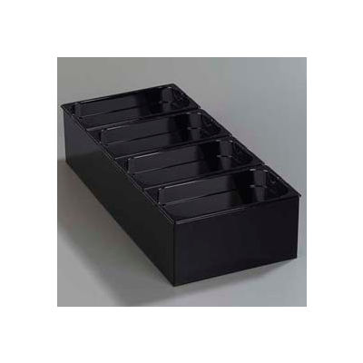 """Carlisle 1080603 - Condiment Food Station, with 4 1/6 Size, 4"""" Deep, Top Notch Food Pans, Black"""