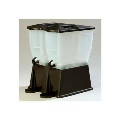 Carlisle 1085303 - Trimline Economy Beverage Server, 3 Gal., Double Base, Rectangular, Clear, Black