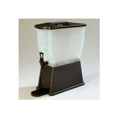Carlisle 1085403 - Trimline Premium Beverage Server, 3 Gallon, Single Base, Rectangular, Black