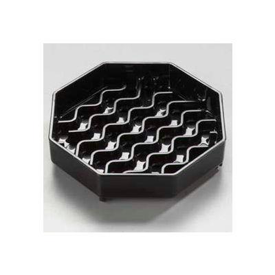 "Carlisle 1103003 - Newave™ Octagon Drip Tray 4"", Black - Pkg Qty 12"