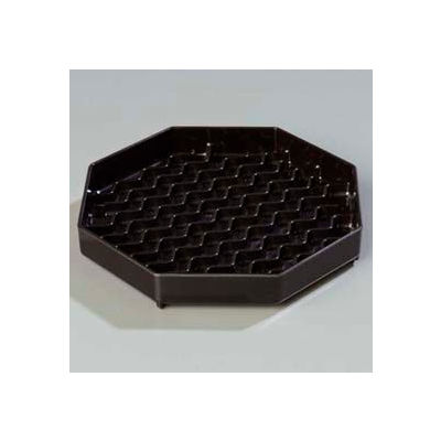 "Carlisle 1103603 - Newave™ Octagon Drip Tray 6"", Black - Pkg Qty 12"