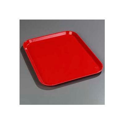 "Carlisle 1814FG017 - Glasteel™ Solid Rectangular Tray 18"", 14"", 3/4"", Red - Pkg Qty 12"