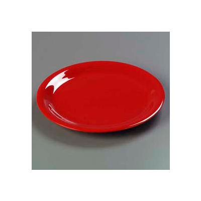 "Carlisle 3300405 - Sierrus™ Dinner Plate, Narrow Rim 9"", Red - Pkg Qty 24"