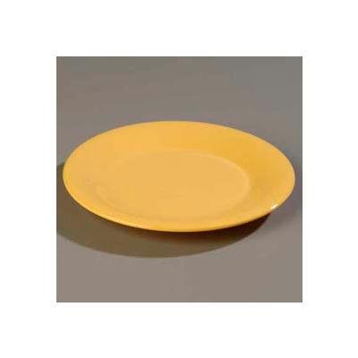 "Carlisle 3301022 - Sierrus™ Dinner Plate, Wide Rim 10-1/2"", Honey Yellow - Pkg Qty 12"