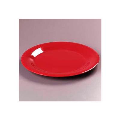 "Carlisle 3301605 - Sierrus™ Salad Plate, Wide Rim 7-1/2"", Red - Pkg Qty 48"