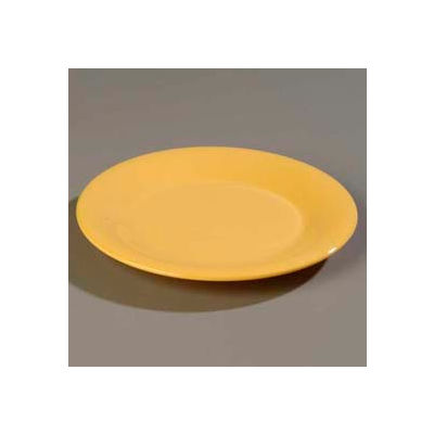"Carlisle 3301622 - Sierrus™ Salad Plate, Wide Rim 7-1/2"", Honey Yellow - Pkg Qty 48"