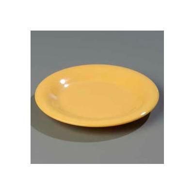"Carlisle 3301822 - Sierrus™ Pie Plate, Wide Rim 6-1/2"", Honey Yellow - Pkg Qty 48"