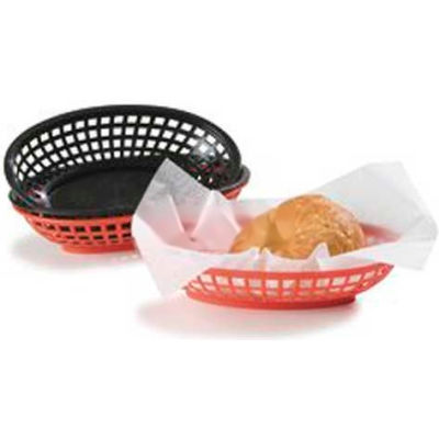 "Carlisle 033305 - Bread And Bun Basket Oval Basket, 9-1/4"" x 6"", Red"