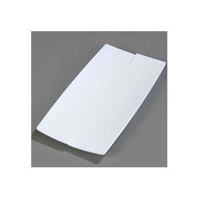 "Carlisle 3332202 - Rave™ Rectangular Platter 16"", White - Pkg Qty 6"