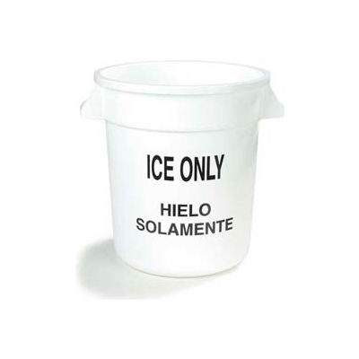 Carlisle 341010ICE02 - Ice Only Container 10 Gallon, White - Pkg Qty 6