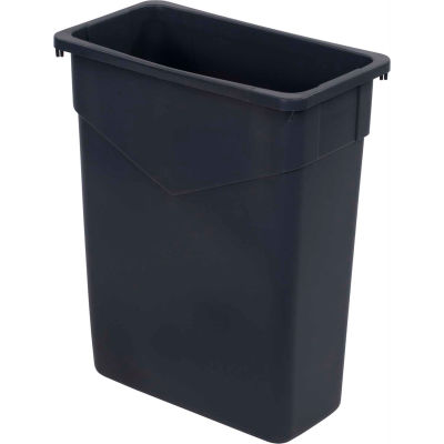 Carlisle TrimLine Rectangle Waste Container 15 Gallon, Gray, - 34201523 - Pkg Qty 4