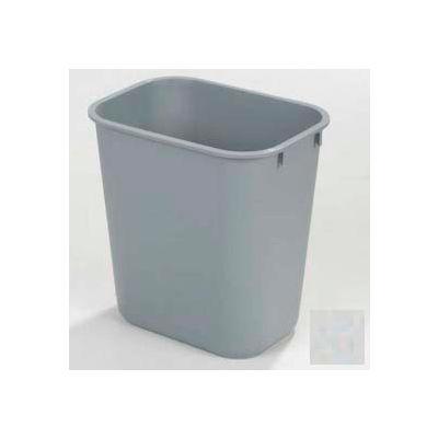 Carlisle Rectangle Office Wastebasket 28 Qt., Gray - 34292823 - Pkg Qty 12