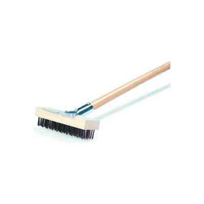 "Carlisle 36372500 - Oven and Grill Brush W/ Scraper & Flat Wire SS Bristles 30"", Stainless Steel"