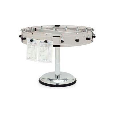 "Carlisle 3812MP - Order Wheel, 12 Clip Portable, 14"", Stainless Steel"