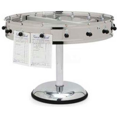 "Carlisle 3820MP - 20 Clip Portable Order Wheel, 23"", Stainless Steel"