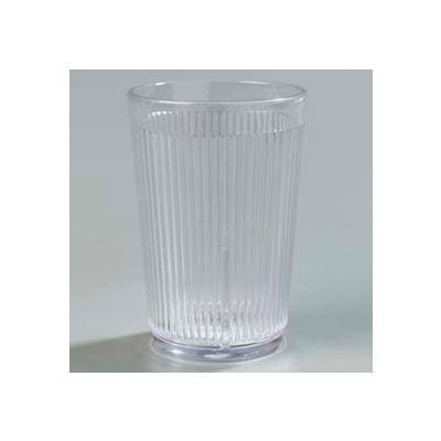 Carlisle 400807 - Crystalon® Stack-All® SAN Tumbler 8.3 Oz., Clear, Ribbed Texture - Pkg Qty 48