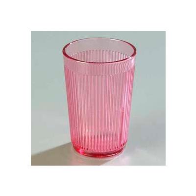 Carlisle 400855 - Crystalon® Stack-All® SAN Tumbler 8.3 Oz., Rose, Ribbed Texture - Pkg Qty 48