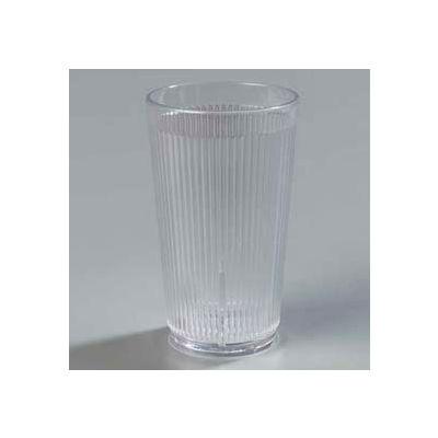 Carlisle 401207 - Crystalon® Stack-All® SAN Tumbler 12 Oz., Clear, Ribbed Texture - Pkg Qty 48