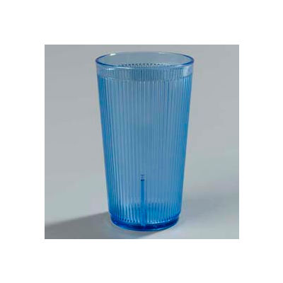 Carlisle 402054 - Crystalon® Stack-All® SAN Tumbler 20 Oz., Blue, Ribbed Texture - Pkg Qty 48