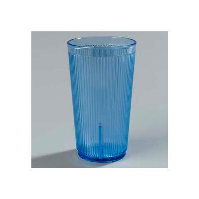 Carlisle 402054 - Crystalon® Stack-All® SAN Tumbler 20 Oz., Blue, Ribbed Texture - Pkg Qty 48