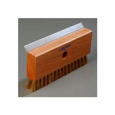 "Carlisle 4029100 - Oven Brush & Scraper W/ Brass Wire Bristles (Head Only) 8-1/2"" - Pkg Qty 12"