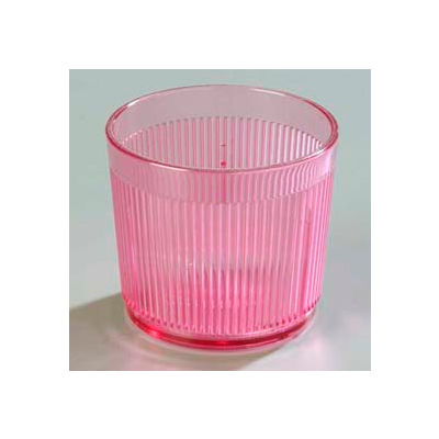 Carlisle 402955 - Crystalon® Stack-All® Old Fashion SAN Tumbler 24 Oz., Rose - Pkg Qty 48