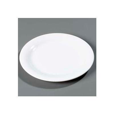 "Carlisle 4300402 - Durus® Narrow Rim Dinner Plate 9-1/16"" x 29/32"", White - Pkg Qty 24"