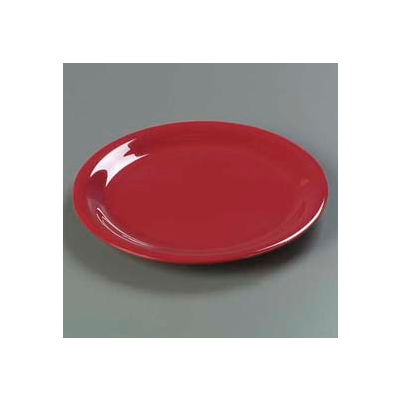 "Carlisle 4300458 - Durus® Narrow Rim Dinner Plate 9-1/16"" x 29/32"", Roma Red - Pkg Qty 24"