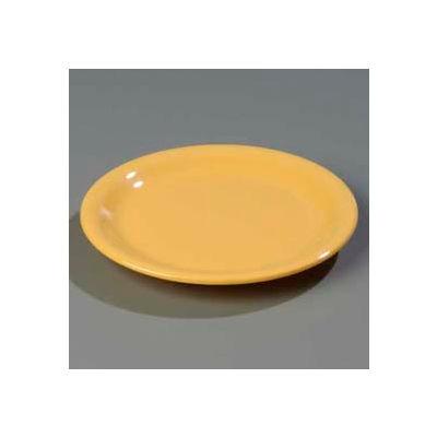"Carlisle 4300822 - Durus® Narrow Rim Pie Plate 6-9/16"" x 3/4"", Honey Yellow - Pkg Qty 48"