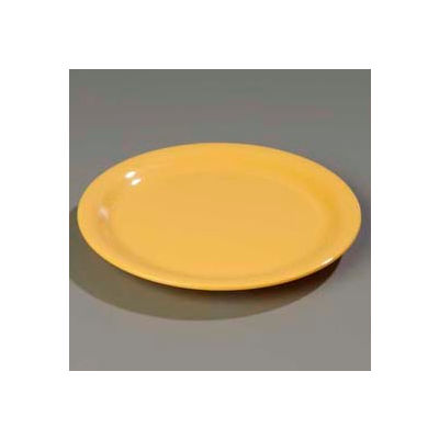 "Carlisle 4301022 - Durus® Wide Rim Dinner Plate 10-9/16"" x 1"", Honey Yellow - Pkg Qty 12"