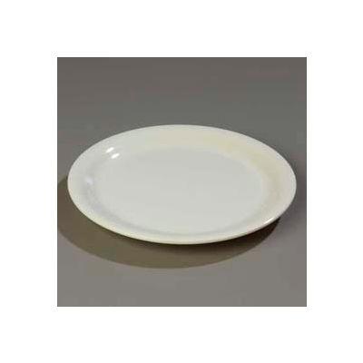"Carlisle 4301042 - Durus® Wide Rim Dinner Plate 10-9/16"" x 1"", Bone - Pkg Qty 12"