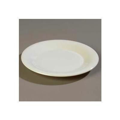 "Carlisle 4301842 - Durus® Wide Rim Pie Plate 6-19/32"" x 3/4"", Bone - Pkg Qty 48"