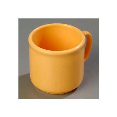 "Carlisle 4305222 - Stackable™ SAN Mug 10 Oz., 3-13/32"", Honey Yellow - Pkg Qty 12"