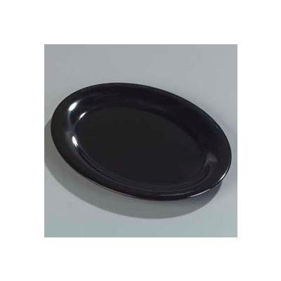 """Carlisle 4308203 - Durus® Oval Platter 11-15/16"""", 9"""", 1"""", Black - Pkg Qty 12"""