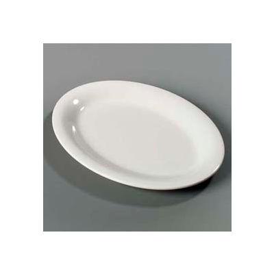 "Carlisle 4308242 - Durus® Oval Platter 11-15/16"", 9"", 1"", Bone - Pkg Qty 12"