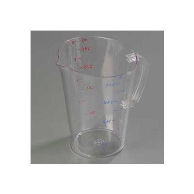 Carlisle 4314507 - Polycarbonate Measure Cup, 1 Gallon- Clear - Pkg Qty 6