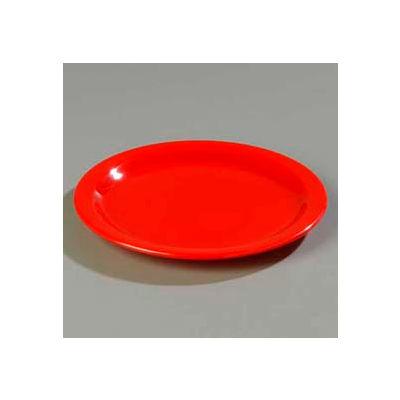 "Carlisle 4350305 - Dallas Ware® Salad Plate 7-1/4"", Red - Pkg Qty 48"