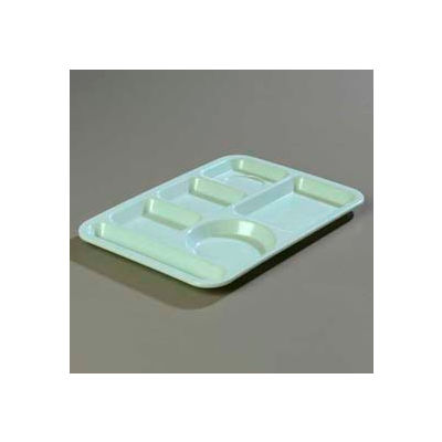 Carlisle 4398100 - Left-Hand Heavy Weight 6-Compartment Tray, Variegated - Pkg Qty 12