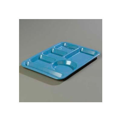 Carlisle 4398192 - Left-Hand Heavy Weight 6-Compartment Tray, Sandshade - Pkg Qty 12