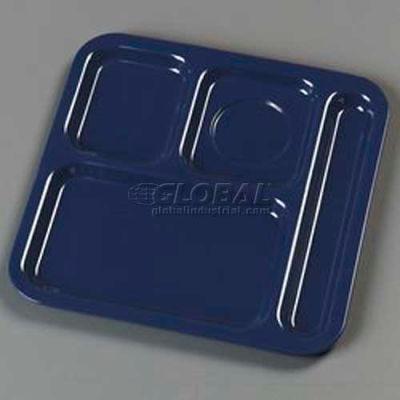 "Carlisle 4398450 - 4-Compartment Tray, 10-1/8"", 9-25/32"", 1/2"", Dark Blue"