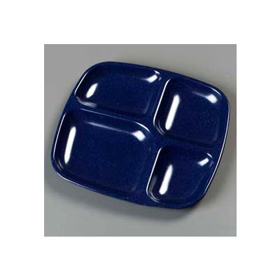 "Carlisle 4398635 - 4-Compartment Server Tray 10-5/16"", 9-19/32"", 27/32"", Cafe Blue - Pkg Qty 36"