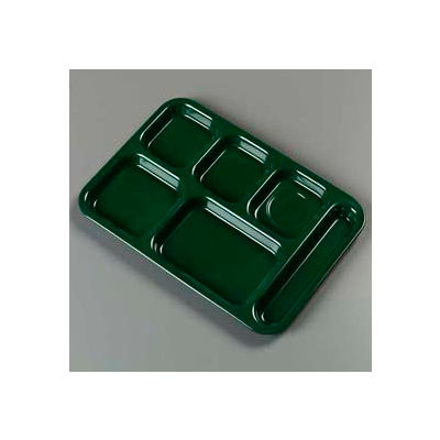 Carlisle 4398808 - Right-Hand Heavy Weight Compartment Tray, Forest Green - Pkg Qty 12