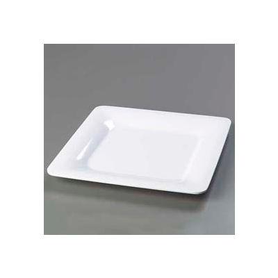 "Carlisle 4440002 - Designer Displayware™ Wide Rim Square Plate 12"", White - Pkg Qty 4"