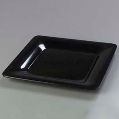 "Carlisle 4440003 - Designer Displayware™ Wide Rim Square Plate, 12"", Black"