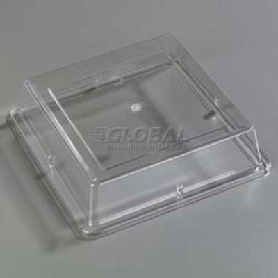 "Carlisle 44400C07 - Designer Displayware™ Cover For 12"" Wide Rim Square Plate, Clear - Pkg Qty 12"