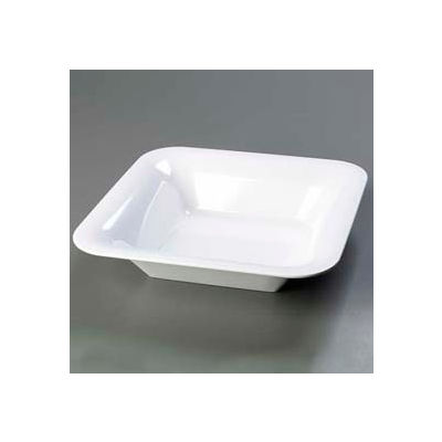 "Carlisle 4440202 - Designer Displayware™ Wide Rim Square Bowl 14"", White - Pkg Qty 4"