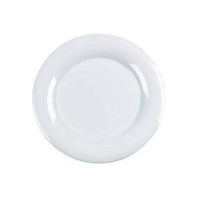"Carlisle 4440402 - Designer Displayware™ Wide Rim Round Platter 15"", White - Pkg Qty 4"