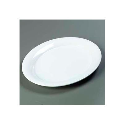 "Carlisle 4441002 - Designer Displayware™ Wide Rim Oval Platter 17"" x 13"", White - Pkg Qty 4"