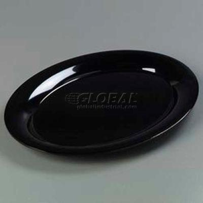 "Carlisle 4441003 - Designer Displayware™ Wide Rim Oval Platter, 17"" x 13"", Black"